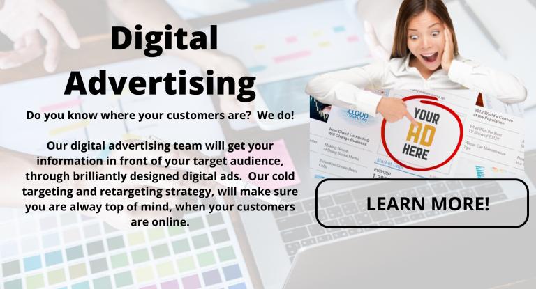 Digital Marketing, Digital Advertising, Website Design, Mobile App, Marketing